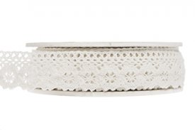 Lace ribbon, cream, 25 mm - A lot decoration
