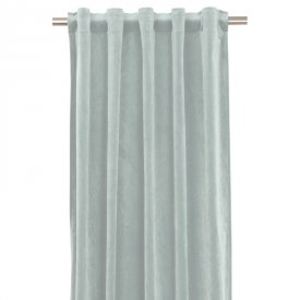 Curtain velvet, Light dusty turquoise, 135x280 cm, 2 pcs - Svanefors