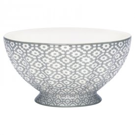 French bowl Jasmina grey, x-large - GreenGate