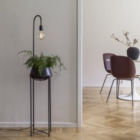 cornelia-flowerpot-with lighting-black