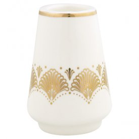 Elvina Candle holder, gold, medium - Gate Noir