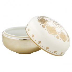 Bowl with lid, Elvina gold - Gate Noir