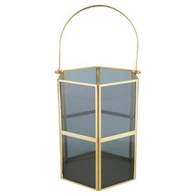Lantern Dark grey / Gold, medium - Gate Noir