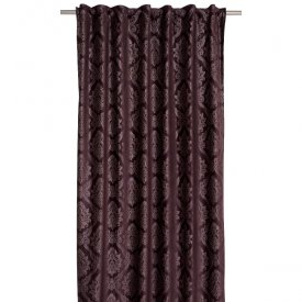 Curtain velvet Torquay, wine red, 140x275 cm, 2 pcs - Svanefors