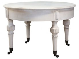 Coffetable on wheels, Marie Antoinette, Antique cream - Chic Antique