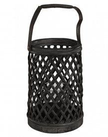 Bamboo, Round Lantern, black - Artwood