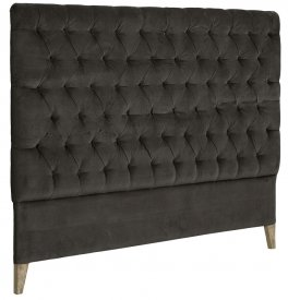 London Headboard, velvet iron grey - Artwood