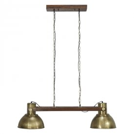 Ashby Double Ceiling lamp, Pale Gold - PR Home