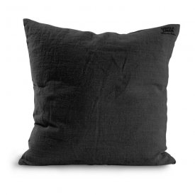 Cushion cover Lovely Linen, 47x47 cm, Dark grey - Kardelen