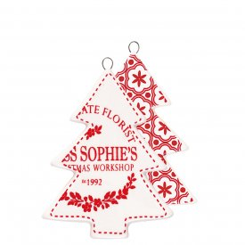 Christmas pendant Tree red - GreenGate
