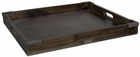 Kings road Tray, square, Antique Java Oak - Artwood