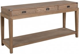 Vermont Console table Weathered Oak - Artwood