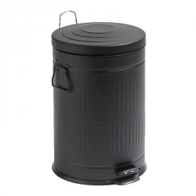 Trash can black with pedal - Nordal