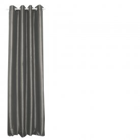Curtain 2 pcs, taffeta, grey - Svanefors