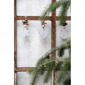 Christmas tree in wood, white - Ib Laursen