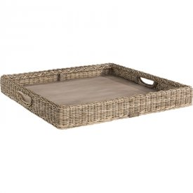 Rattan tray Square grey lacak - Artwood
