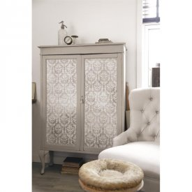 Wallpaper, small Medallion, beige - Jeanne d'Arc Living