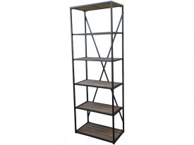 bookcase-wood-metal-antique-black-chic-antique