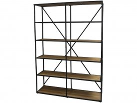 bookcase-wood-metal-double-antique-black-chic-antique