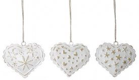 "Hearts ""Lace"" Zinc 3-set"