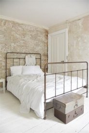 Iron bed 140cm, dark antique - Jeanne d'Arc Living