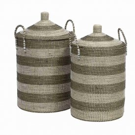 Laundrybasket Seagrass 2 sizes - Nordal