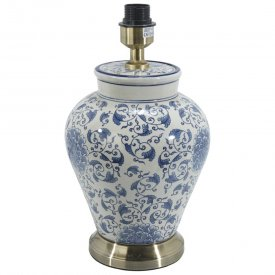 Fang Hong Table lamp, porcelain, white/blue - PR Home