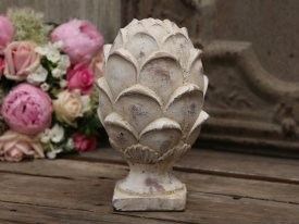 Kotte h 25 cm, antique white - Chic Antique