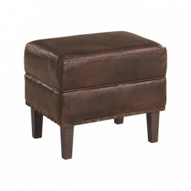 Chelsea Ottoman Vintage Leather Cigar - Artwood