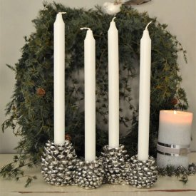 advent-candleholder-cone-antique-silver