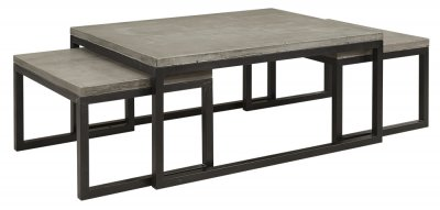 Soffbord Toshu 3-delat, Concrete grey/steel - Artwood