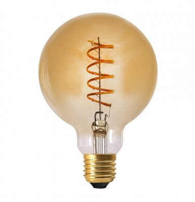 Elect Spiral LED Filament Globe 95 mm, E27, 4W gold - Pr Home
