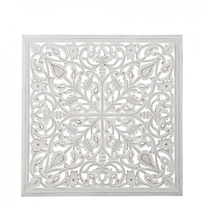 Carve 90x90 cm Cross, White - Affari
