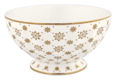 French bowl Laurie gold, x-large - GreenGate