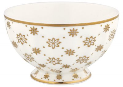 French bowl Laurie gold, medium - GreenGate