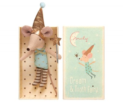 Mouse Toothfairy in box, boy - Maileg