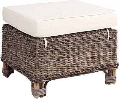 Tiverton Ottoman Kubu Grey - Artwood