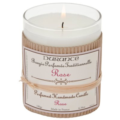 Handcrafted Candle Rose, 180 gr - Durance