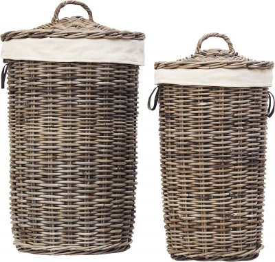 Tvättkorg Laundry Basket 2-set, Kubu Grey - Artwood
