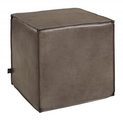 Cube Ottoman Square, Buffalo Leather Lampré - Artwood
