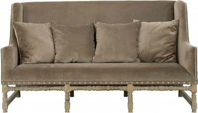 Soffa Mayfair 3-sits, Velvet Brown - Artwood