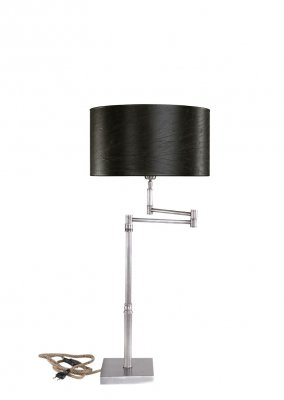 Lampfot Bord Pewter Swing h 65, Shiny Steel - Artwood