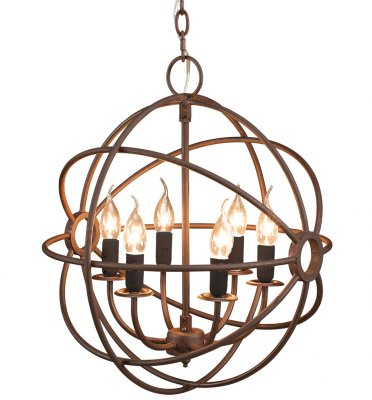 Gyro Ceiling Lamp, Antique Rust - Artwood
