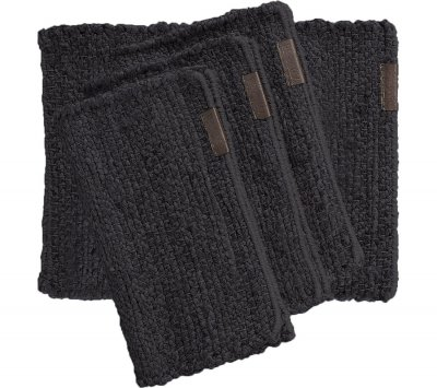 Bordstablett Hemp 4-pack, dark grey - Artwood