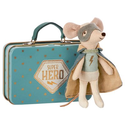 Guardian Hero Mouse, in suitcase - Maileg