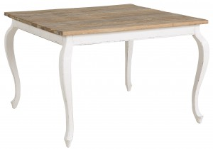 Matbord Elmwood Square, white distressed - Artwood