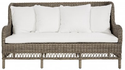 Estelle Sofa 3-seated, incl. cushions, kubu slimit grey - Artwood