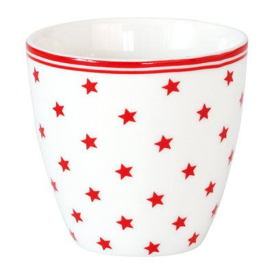Mini lattemugg Star small, white - GreenGate