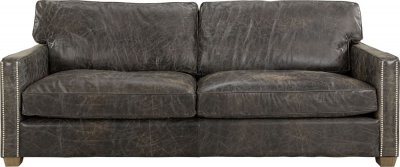 Soffa Viscount, 3-sits, Leather Fudge - Artwood