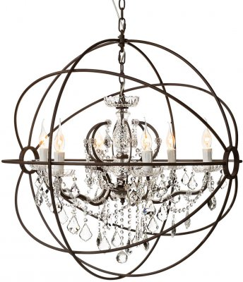 Taklampa Rome Antique Crystal, Ø 80 cm - Artwood